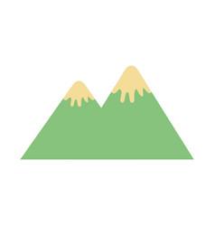 mountain peak nature snow camp icon vector image