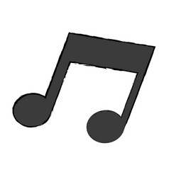 Music note melody sound icon vector