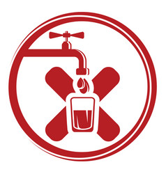 no drinking water sign vector image