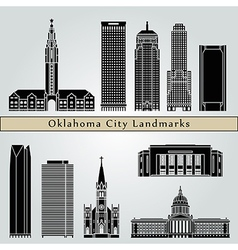 Oklahoma city landmarks and monuments vector