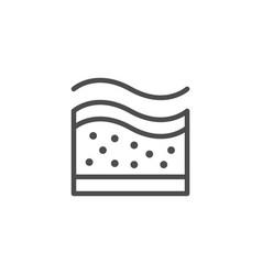 Orthopedic mattress memory line icon vector