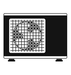 Outdoor conditioner fan icon simple style vector