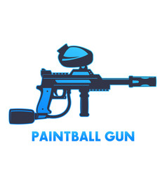 Paintball gun on white vector