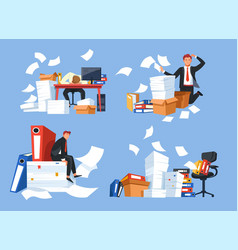paperwork business office documents and paper vector image