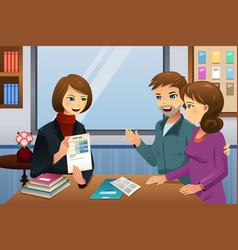 Parents teacher meeting vector