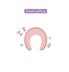 pillow for travel flat icon vector image