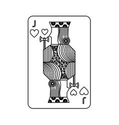 Poker playing card jack hearts vector