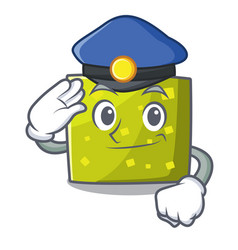 police square character cartoon style vector image