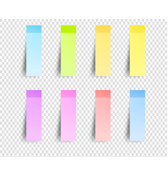 post sticker sticky papers bookmarks vector image
