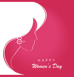 profile of a beautiful girl to celebrate womens vector image