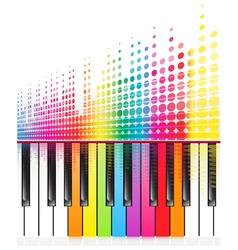 rainbow keys of piano vector image