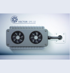 Realistic ventilation template vector