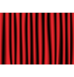 Red realistic curtain vector image