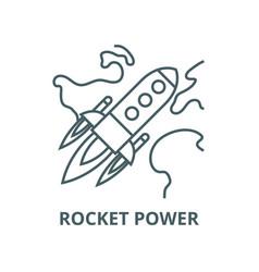 rocket power launch flight line icon vector image