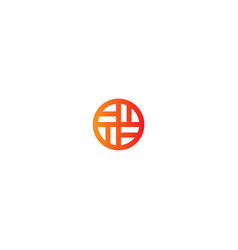 round line shape puzzle logo vector image