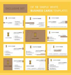 set of 12 piller creative busienss card template vector image