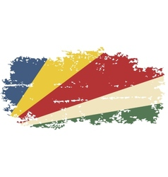 Seychelles grunge flag vector image