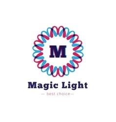 shiny flower style geometric monogram logo vector image