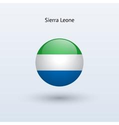 Sierra Leone round flag vector image