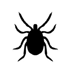 Silhouette mite top view vector