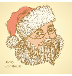 Sketch Santa Claus in vintage style vector image