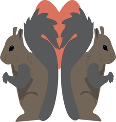 Squirrel Love vector