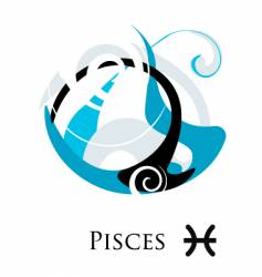 star sign zodiac pisces vector image