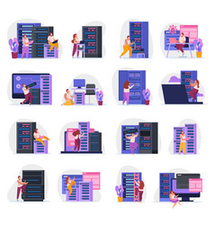 System administrator icons vector