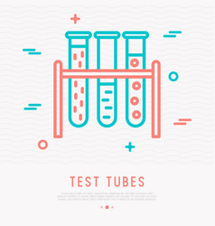 Test tubes thin line icon vector