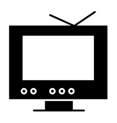 tv solid icon monitor vector image