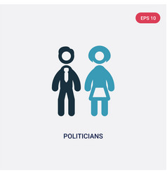 Two color politicians icon from political concept vector