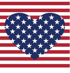 usa star pattern background with heart in vector image