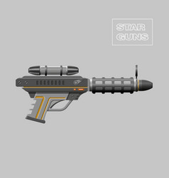 Video game weapon Virtual reality device Rifle vector image
