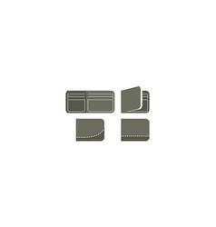 wallet logo icon vector image