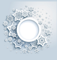 Winter snowflakes card frame vector