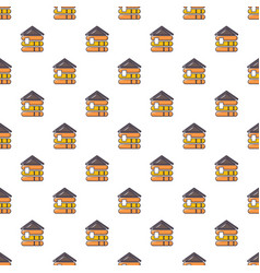 Wood house pattern seamless vector