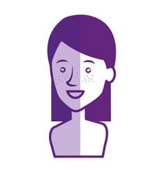 young woman shirtless avatar character vector image