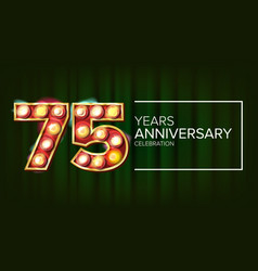 75 years anniversary banner seventy-five vector image