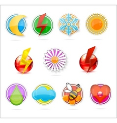 colored symbols set on the white vector image vector image