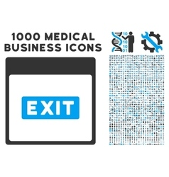 Exit Caption Calendar Page Icon With 1000 Medical vector image vector image