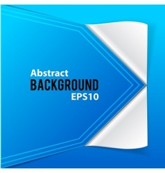 Paper elements on blue background vector image vector image