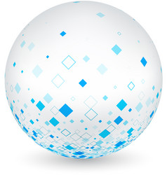 White ball with blue rhombs vector