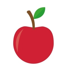 whole apple icon vector image