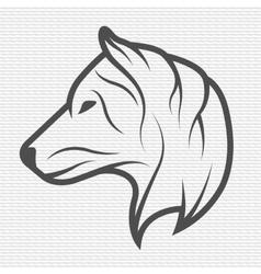 Wolf symbol logo emblem vector image vector image