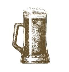 Beer Mug Hand Draw Sketch vector image vector image