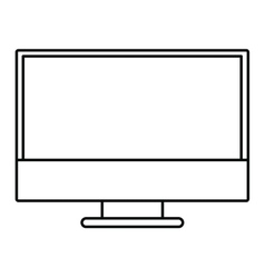 computer monitor isolated icon design vector image vector image