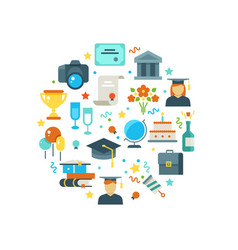 graduation day and learning concept with vector image vector image