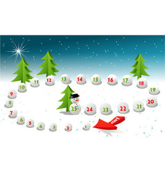 Advent Calendar vector image vector image