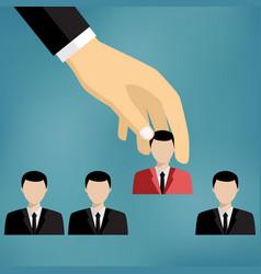 businessman choosing worker vector image vector image