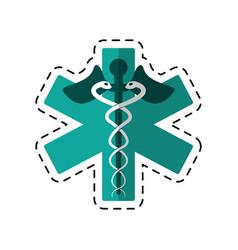 cartoon caduceus medicine care symbol vector image